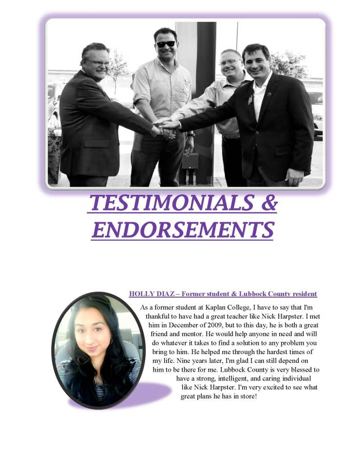 TESTIMONIALS AND ENDORSEMENTS_Page_1